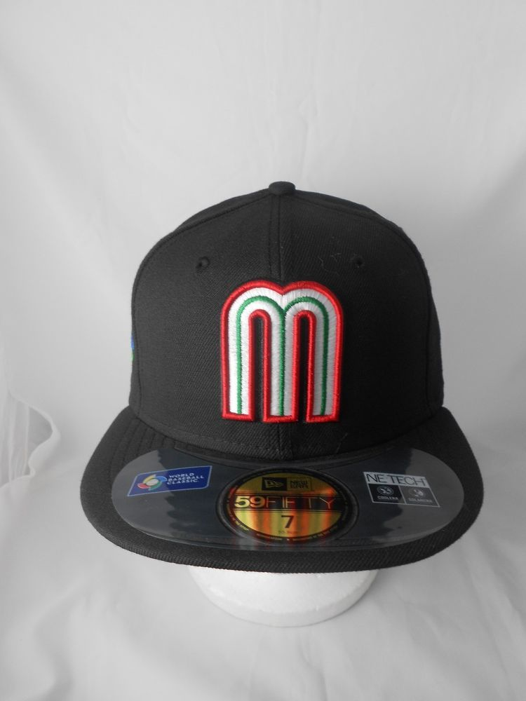 52da9c63da9 NEW ERA 59FIFTY WBC WORLD BASEBALL CLASSIC TEAM MEXICO FITTED HAT BLACK   NewEra  MEXICO