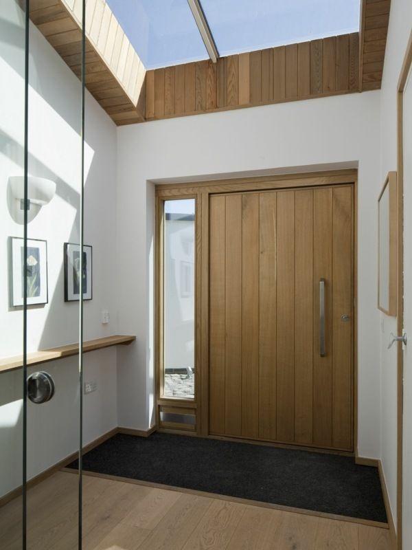 Porte Dentrée Pivotante Et élégante En Idées En Bois Portes - Porte placard coulissante avec cout d une porte blindée