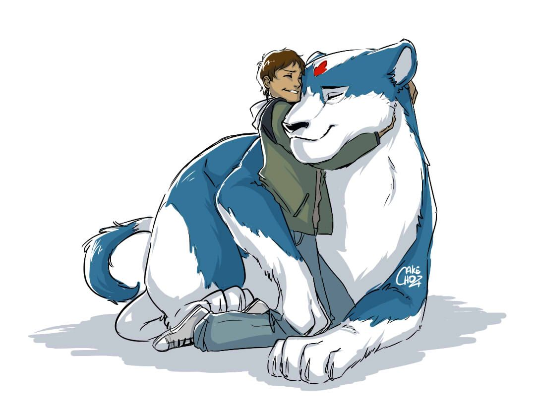Lance And His Realistic Blue Lion From Voltron Legendary