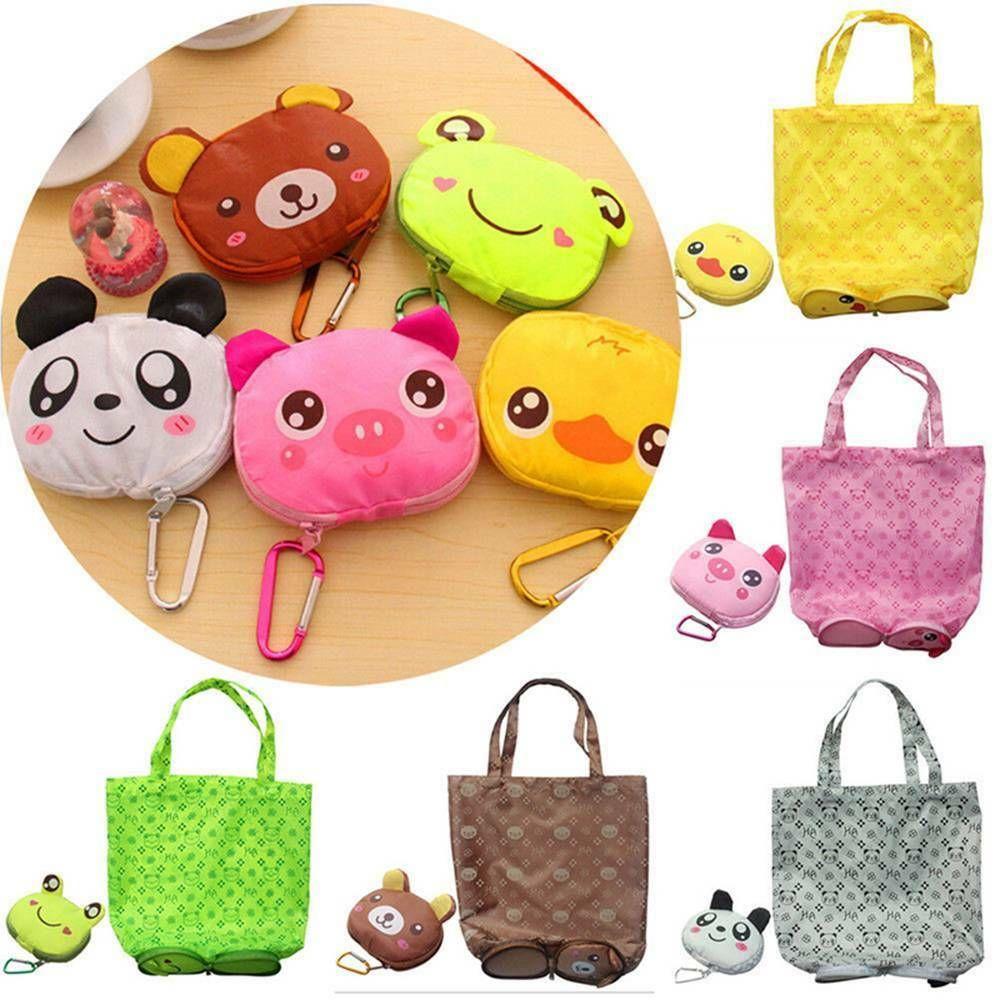 Eco Storage Handbag Cute Animals Foldable Shopping Tote Bags Travel Reusable Bag
