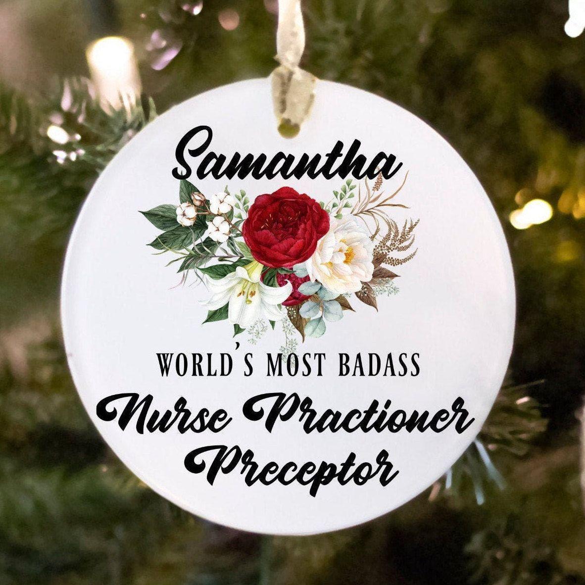 Nurse practitioner preceptor ornament gift for women