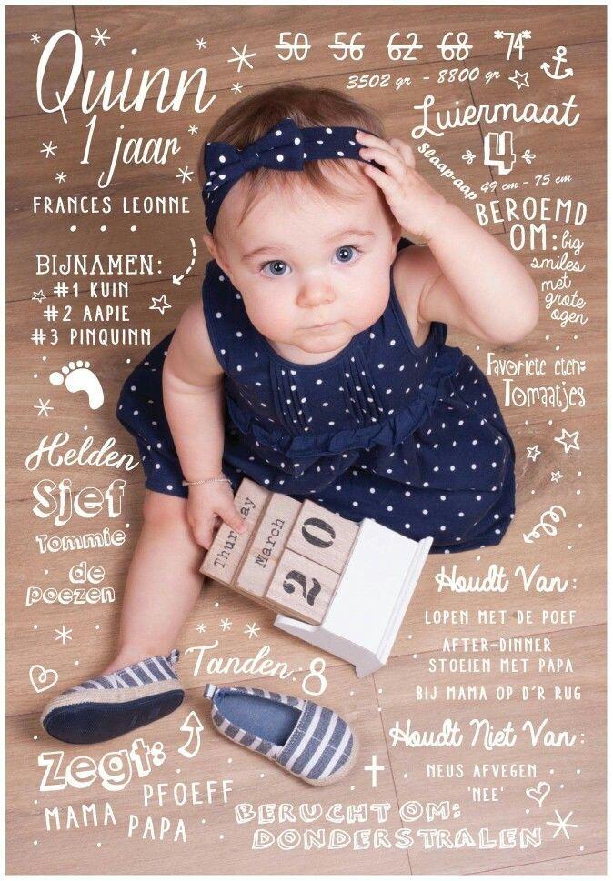 uitnodiging baby 1 jaar Idee uitnodiging 1 jaar | leuk om te maken!! | Pinterest | Babies  uitnodiging baby 1 jaar