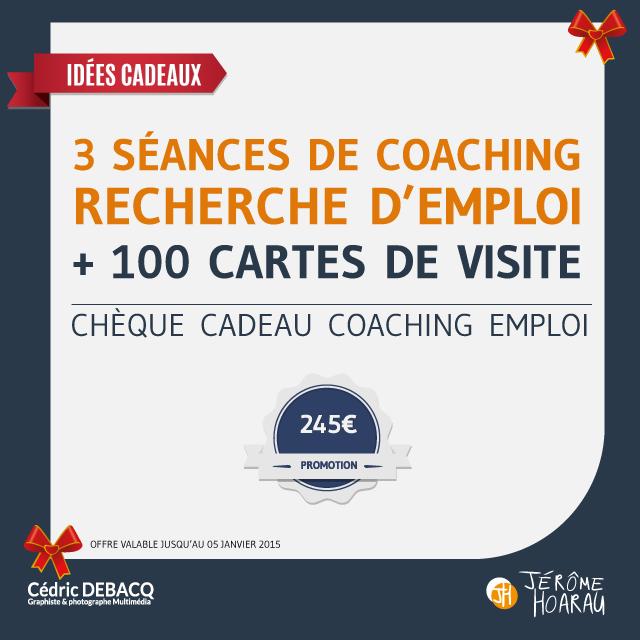 Cheque Cadeau 3 Seances De Coaching En Recherche Demploi Par Jerome Hoarau 100 Cartes Visite Personnalisees