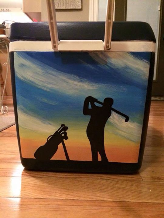 Golfing Cooler Crafting Pinterest Golf Frat Coolers And Formal