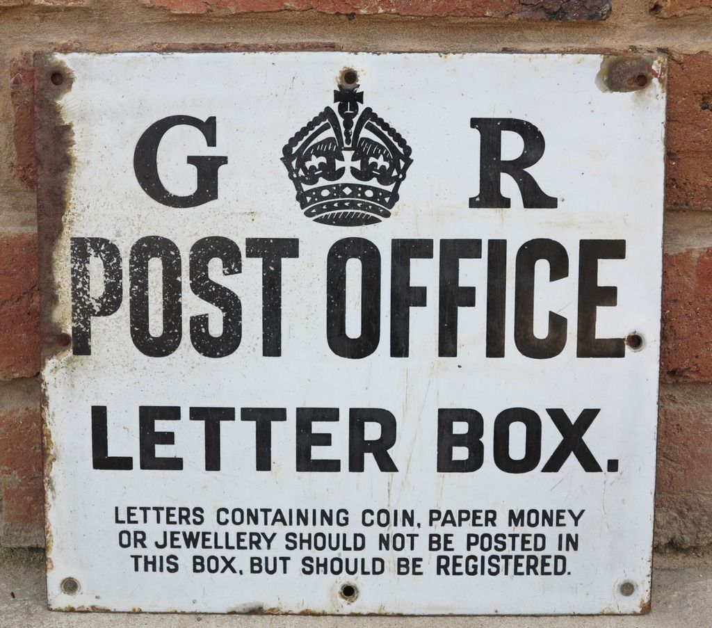 Metal Sign Letters For Sale Delectable Original Royal Mail George 5Th Enamel Post Office Letter Box Sign Review