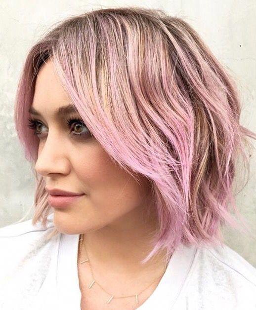 Pinterest: DEBORAHPRAHA ♥ Hilary Duff short hair with pink ombré hair color #… – Westside Bodyworks