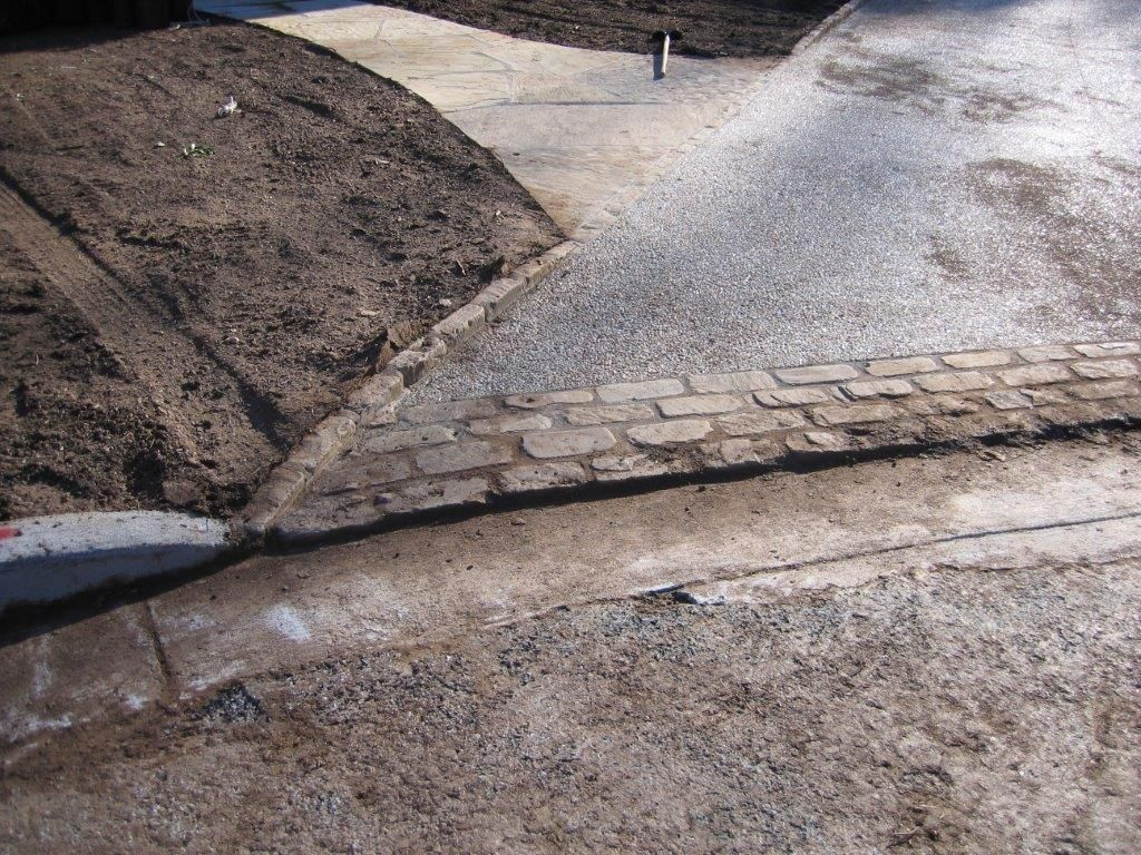 Close Up Of The Apron Driveway Edging And Street Curb Gutter Detail Street Curb Driveway Edging Driveway