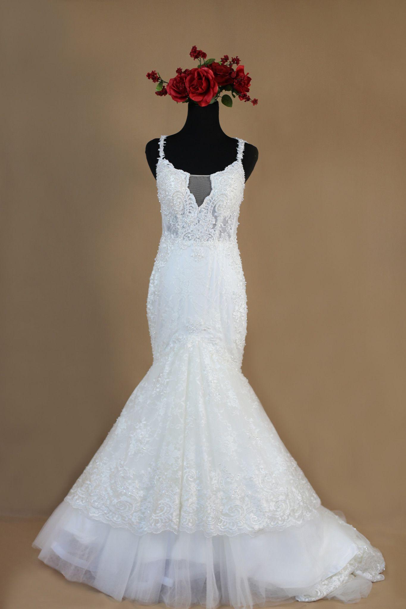 Lace trumpet wedding dress style pb dream dress trumpets
