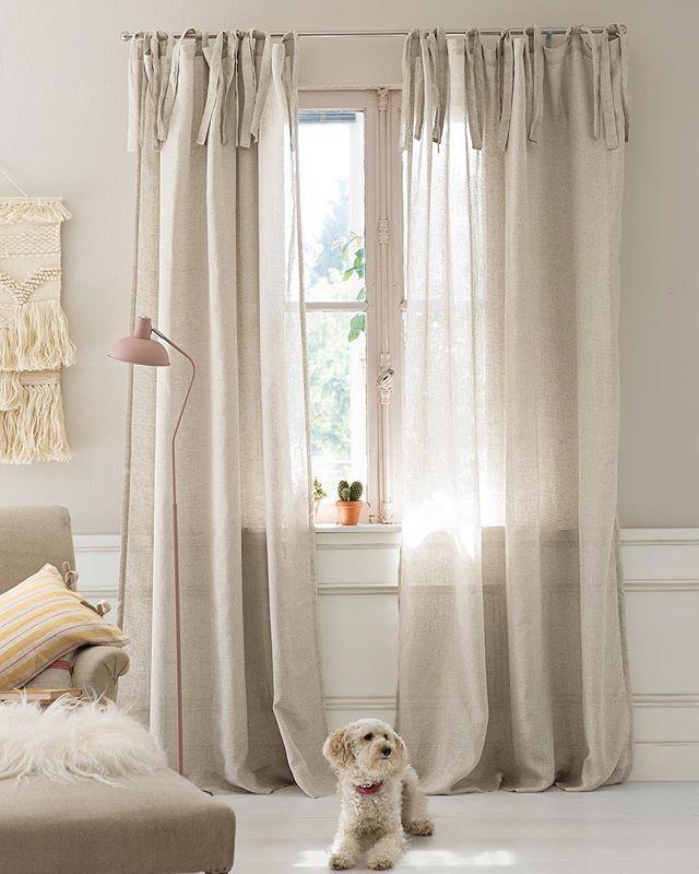 Unser Vorhang Aus Einem Transparenten Leinengewebe In Naturfarben Ist Einfach Der Perfekte Begleiter Fur Wohn Un Home Living Room Home Decor Home And Living