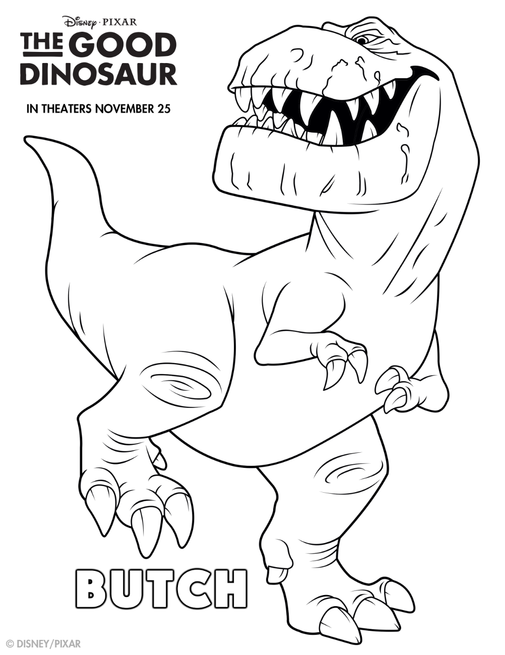 Take a bite out of life with this Good Dino coloring sheet! Meet ...