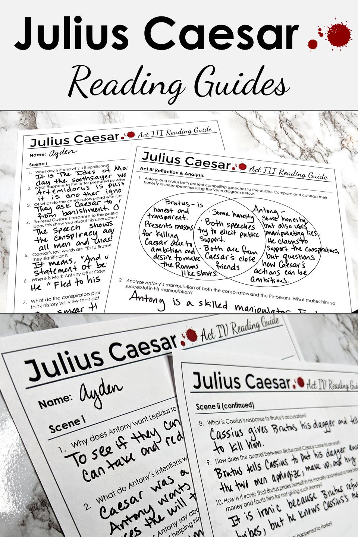 Juliu Caesar Reading Guide And Teaching Tool High School Literature Inspiration Bright Star Poem Paraphrase