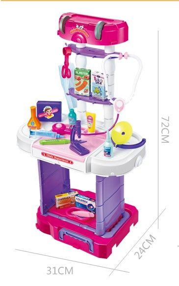 3 In 1 Little Chef Kitchen Set Luggage Style Music Lig Chefs Kitchen Little Chef Kitchen Sets