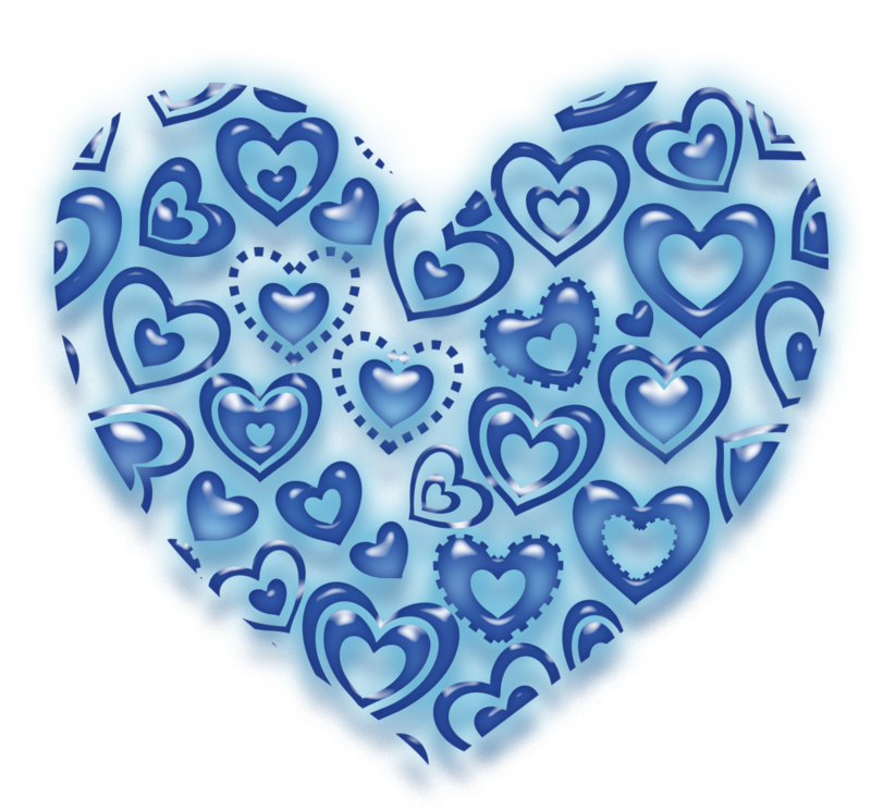 Coeurs Page 43 Heart Art Heart Background Blue Heart