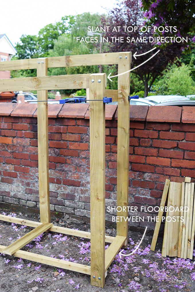 How To Build A Log Store Diy Log Store Garden Storage Log Store