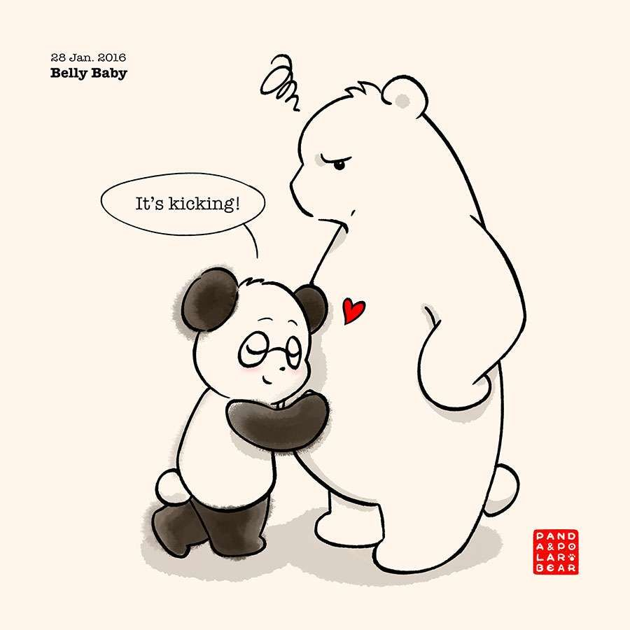 Panda And Polar Bear :: Belly Baby | Tapastic Comics - image 1