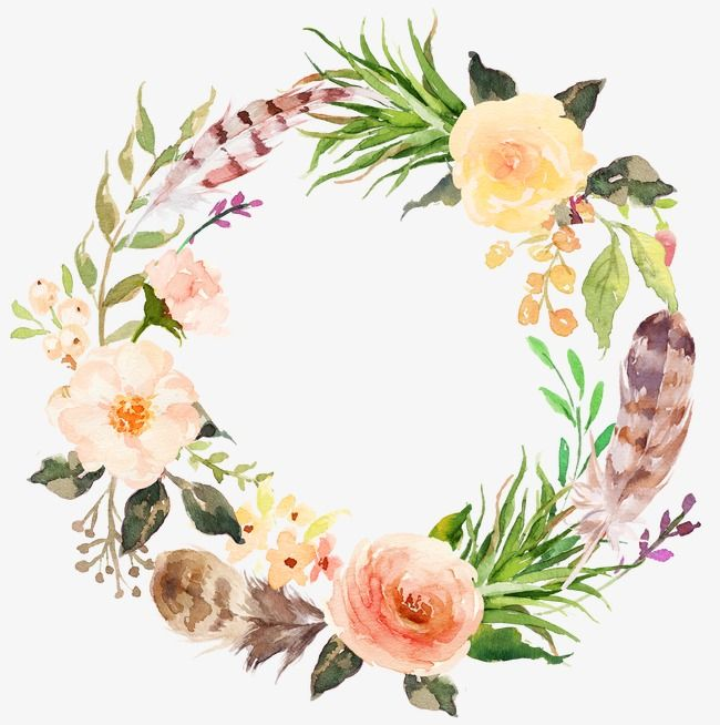 Sen Department Of Pink Flowers Garland Wreath Green Leaves Sen Png Transparent Clipart Image And Psd File For Free Download Wreath Watercolor Floral Wreath Watercolor Flower Painting