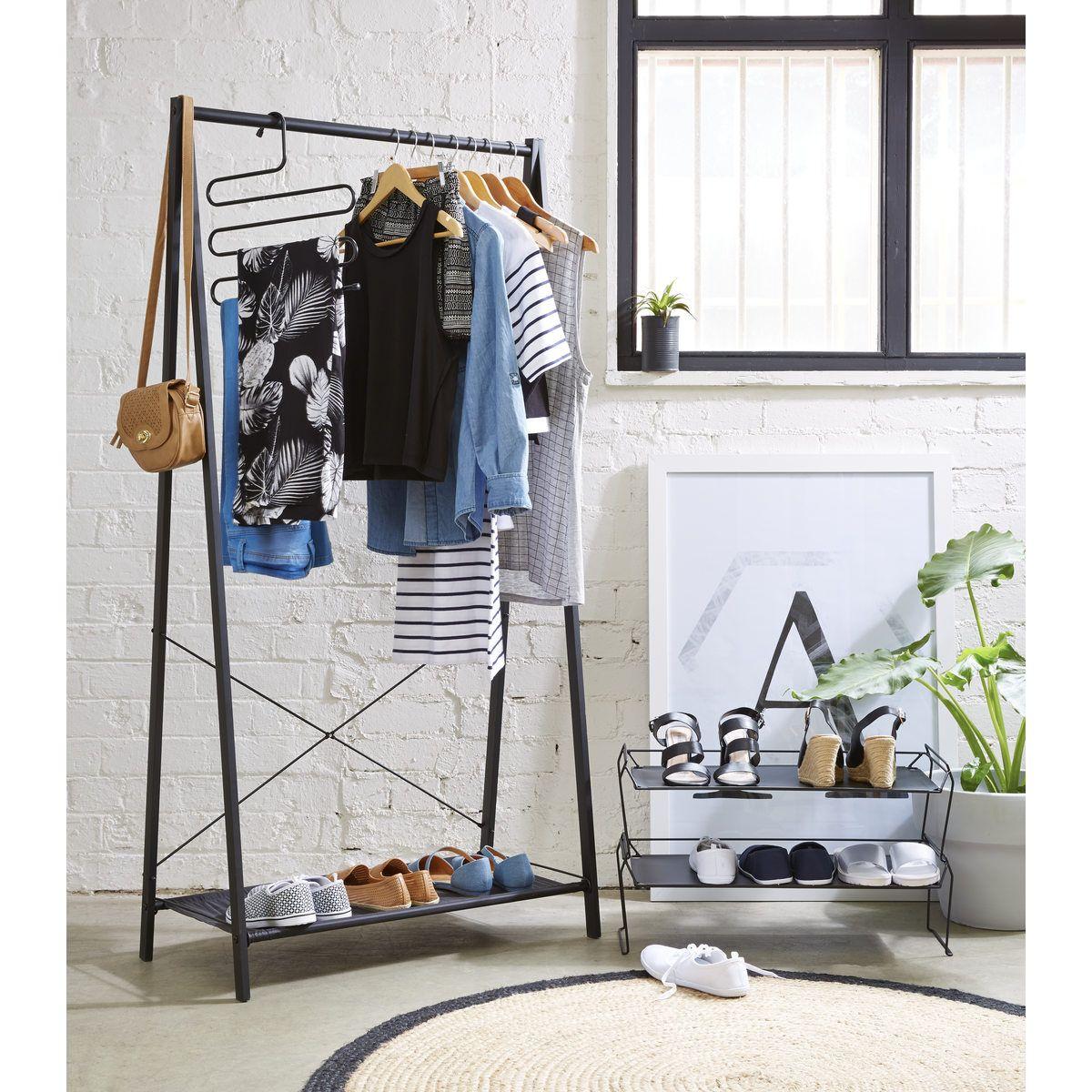 A Frame Garment Rack Black Kmart Garment Racks Clothing Rack Room Setup