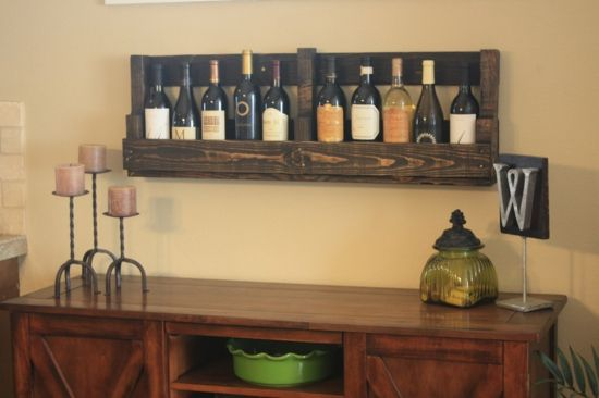 Wine storage wooden pallets furniture dining room furniture ideas ...