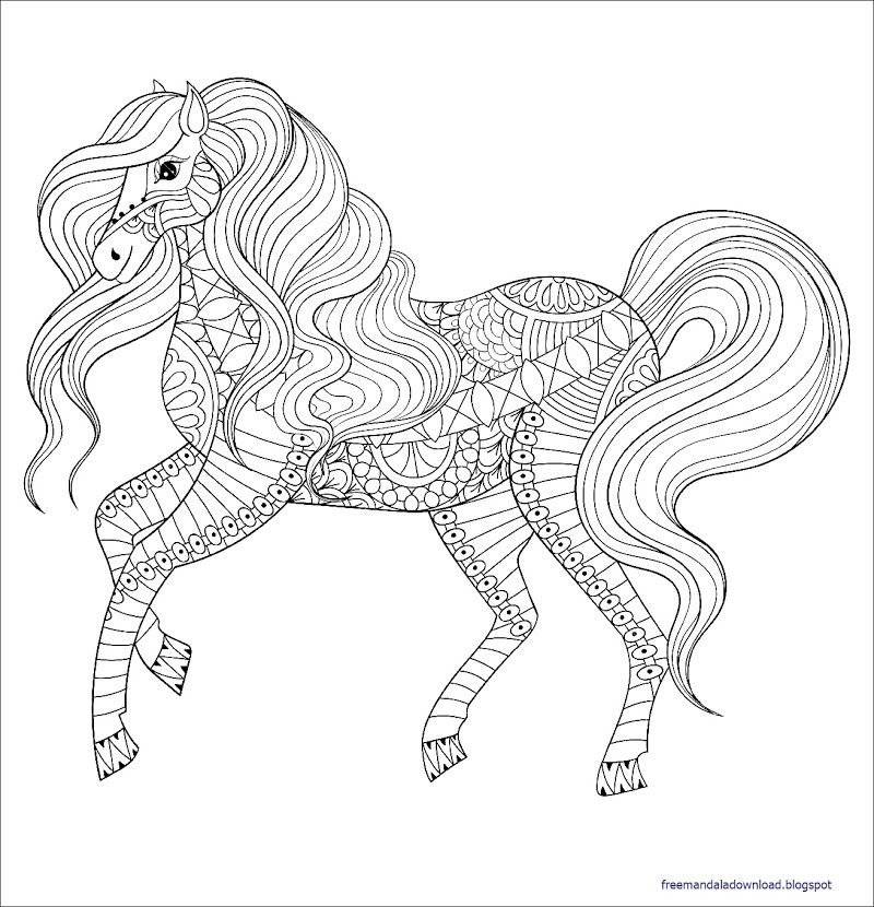 malvorlagen pferd mandala in 2020  malvorlagen pferde