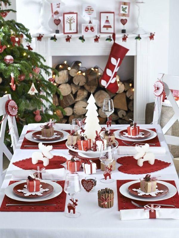 Sencillas Y Rapidas Ideas Para Decorar Tu Mesa En Navidad Decoracion De Mesas Navidenas Mesa De Navidad Centros De Mesa Navidenos
