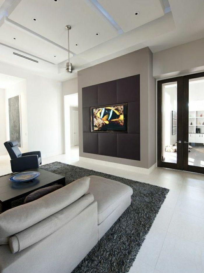 Modernes Wohnzimmer Gestalten Einrichten Wandpaneele Tv Wand Fernsehwand TV Wandpaneel