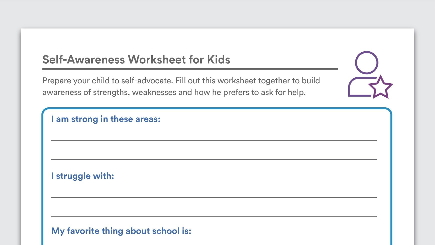 Download Self Awareness Worksheets For Kids With Images