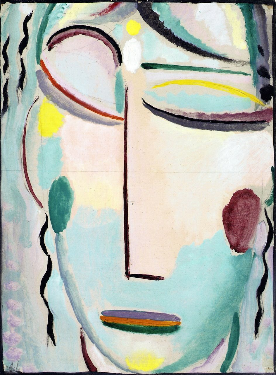 Saviour S Face Resurrection Or The New Life Ii Alexei Jawlensky 1918 Portret Abstract