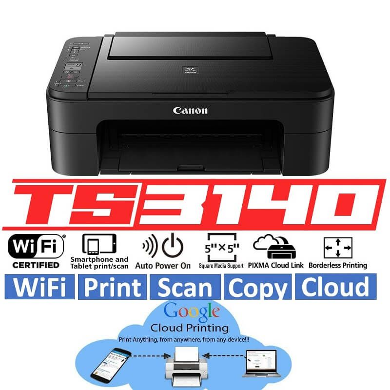 Canon Ts3140 Wifi Printer All In One Print Copy Scan Cloud