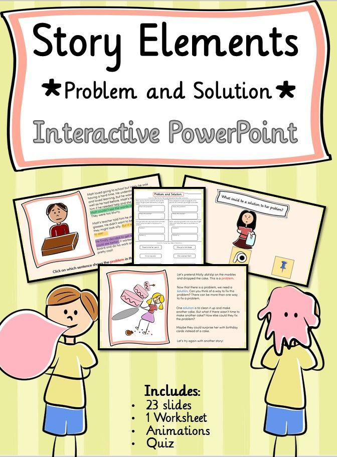 Story Elements Problemsolutioninteractive Powerpoint And