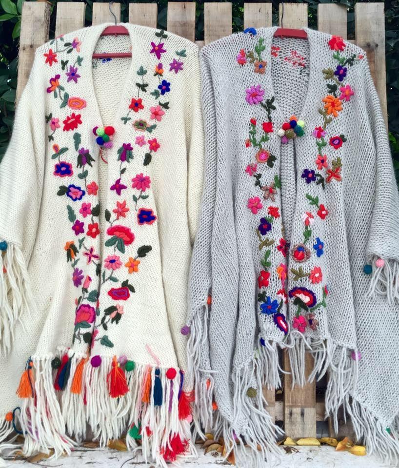 Knitting Embroidery Bordado : María cielo quot las dumas ruanas de oveja bordado