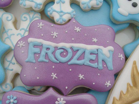 Disney Frozen Cookies Two Dozen Por Luxecookie En Etsy