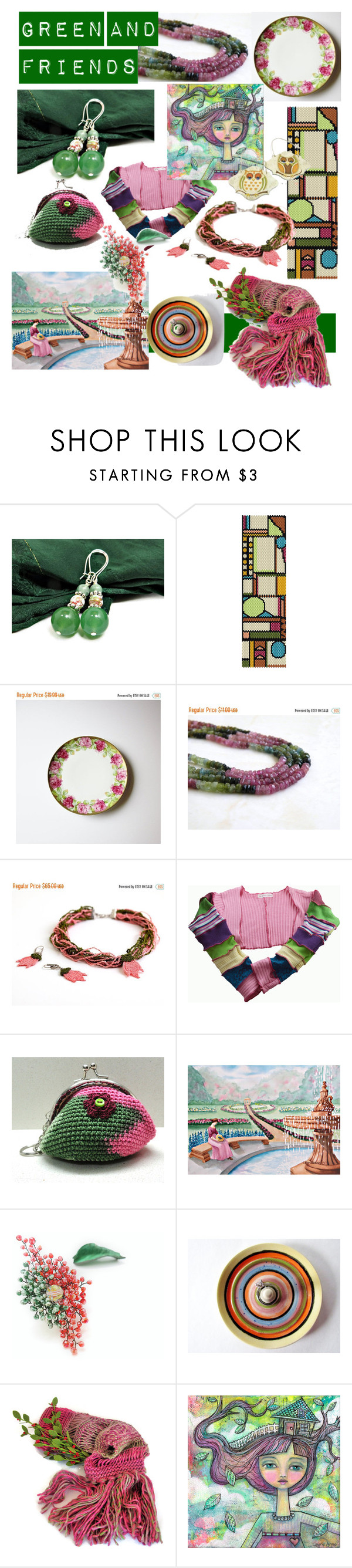 Green and Friends by clschmauder on Polyvore featuring interior, interiors, interior design, home, home decor, interior decorating, Home, jewelry, bags and accessories