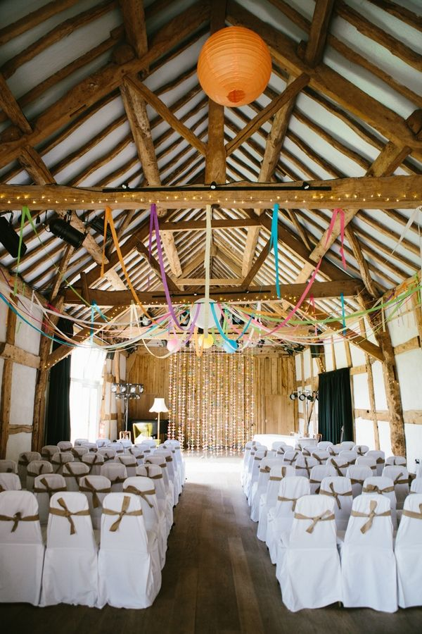 A Quirky Colourful Wedding In Herefordshire Origami Cranes