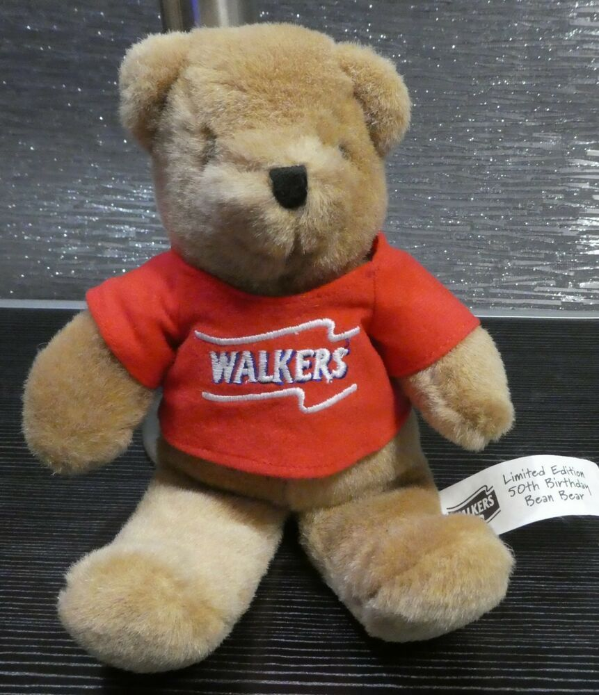 Walker 039 S Crisps Promotional Brown Teddy Limited Edition 50th
