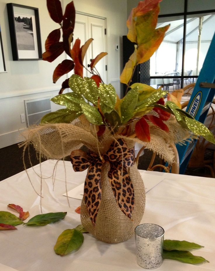Glass Vases With Burlap Table Decorations Glass Vase From Walmart