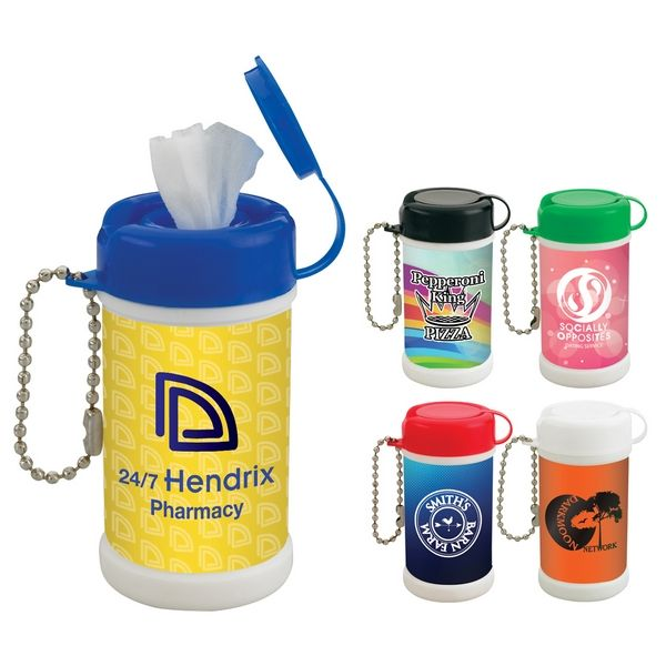 Pocket Size Wet Wipe Canister Wet Wipe Canisters Hand Logo