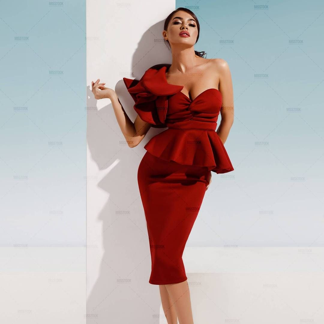 c5922a15ef6e Darla Burgundy Ruffle Dress in 2019   Clothing Pieces and Outfits ...