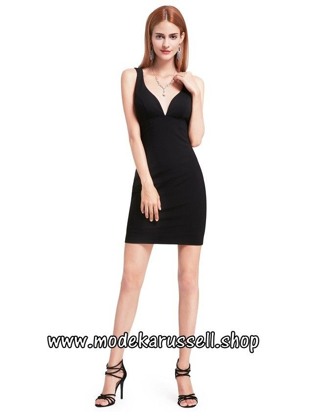 Elegantes schwarzes kleid langarm