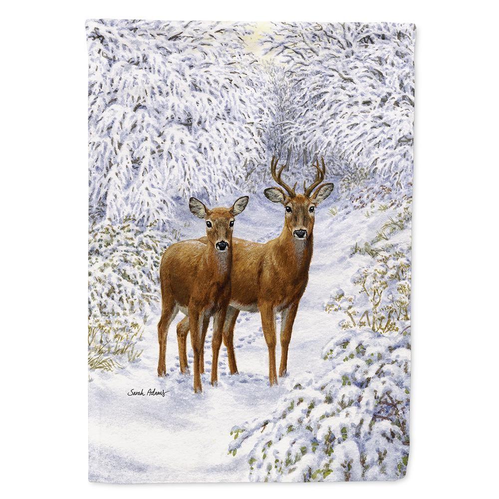 Caroline's Treasures 28 in. x 40 in. Polyester Two Deer