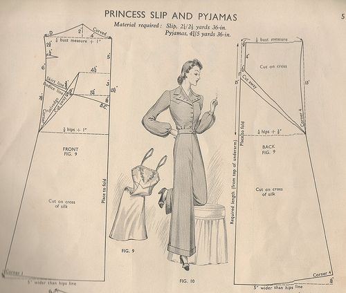 1940s Princess Slip and Pyjamas by pinky and boo, via Flickr