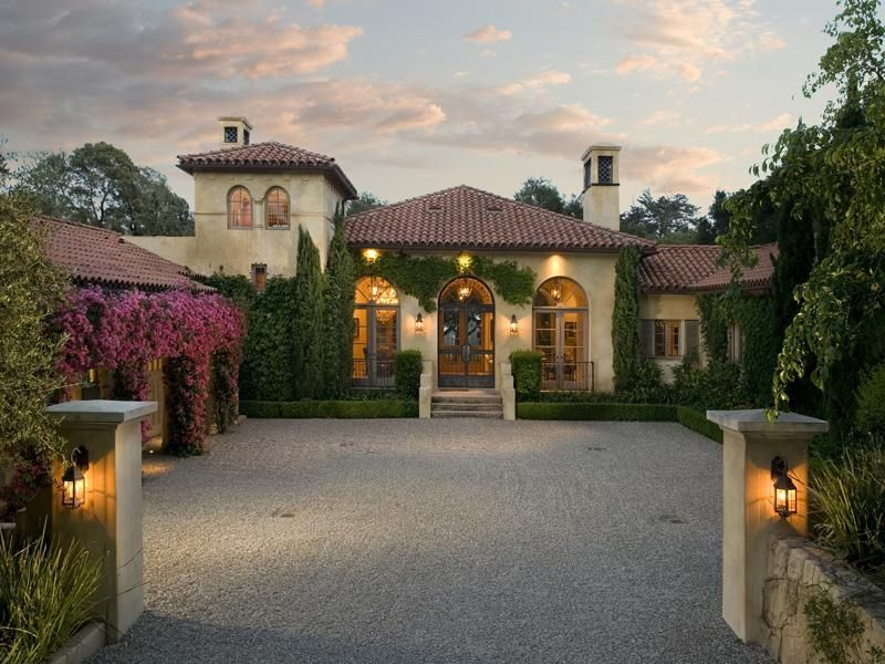 walled entrance vines spanish style homes on extraordinary mediterranean architecture style inspiration id=78817