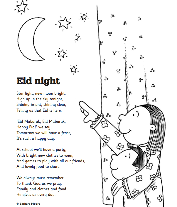 Share this lovely Eid Poem the night before once the children are – Eid Card Templates