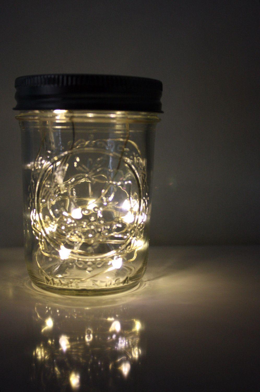 Cake topper nostalgic lightening bug mason jar by shelbylea half