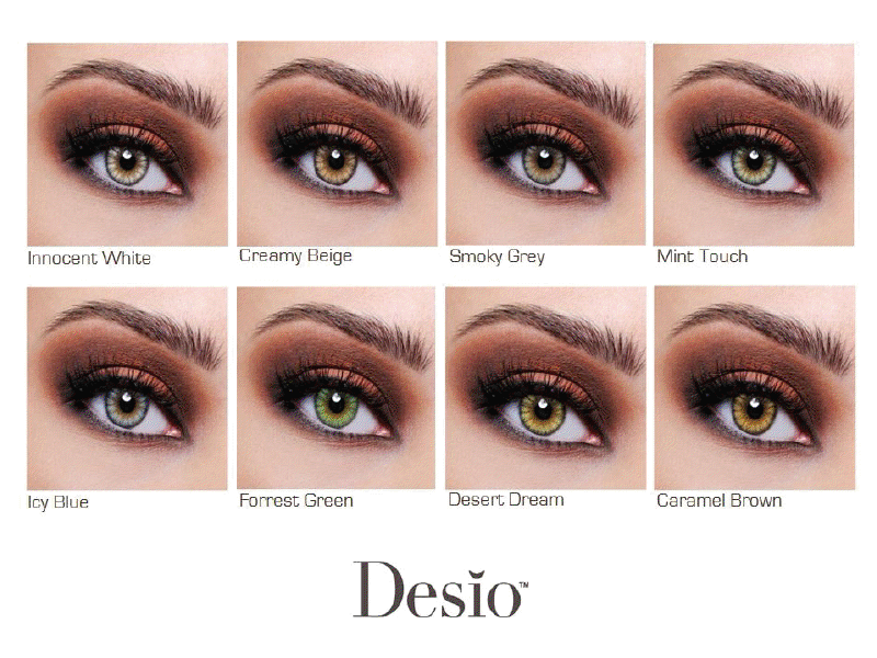 DESIO color contacts chart | Contacts specifically made to ...