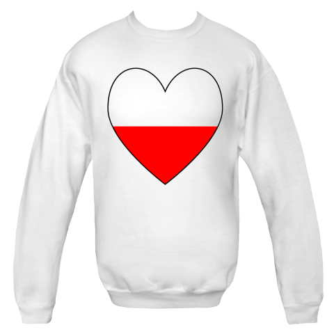 Heart shaped flag of Poland pr Polish flag. Shows in red and white.Fun on Valentine's Day or anytime. $24.99 ink.flagnation.com