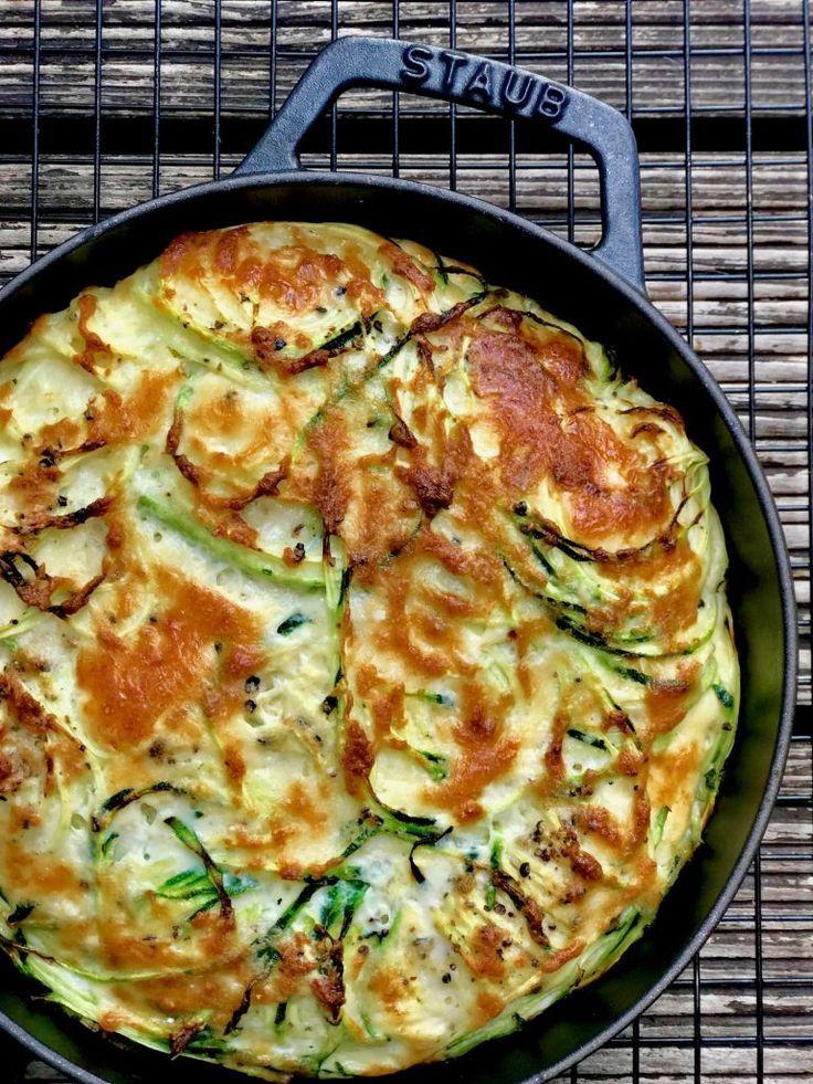 Zucchini-Parmesan-Frittata - Holla die Kochfee