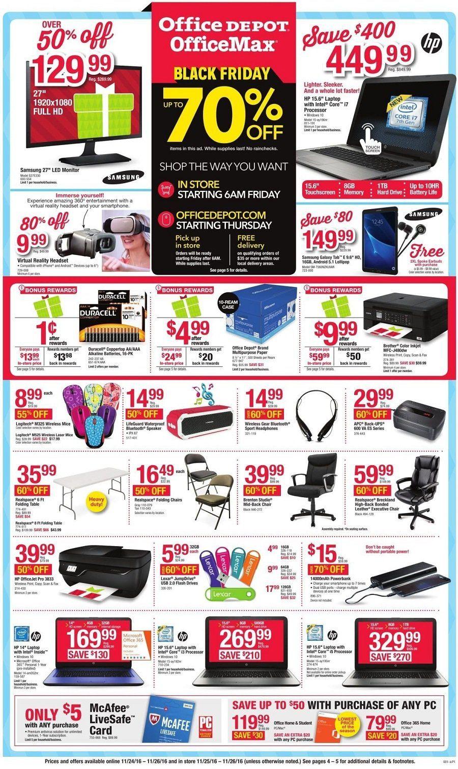 Office Depot 2019 Black Friday Ad Black Friday Ads Office Depot Black Friday