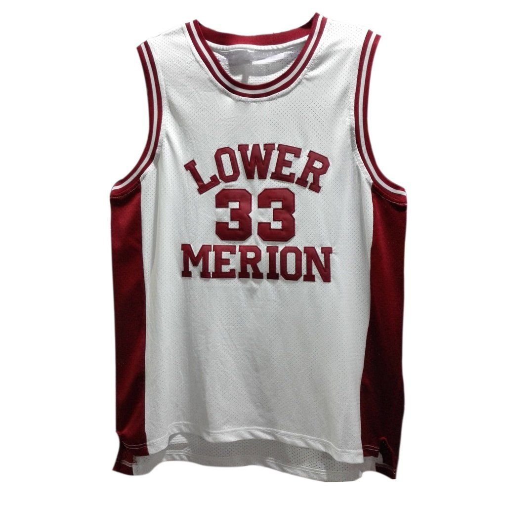 Kobe Byrant s  33 Lower Merion High School basketball jersey. Stitched name  and numbers. 2 colors available 89737e3ad