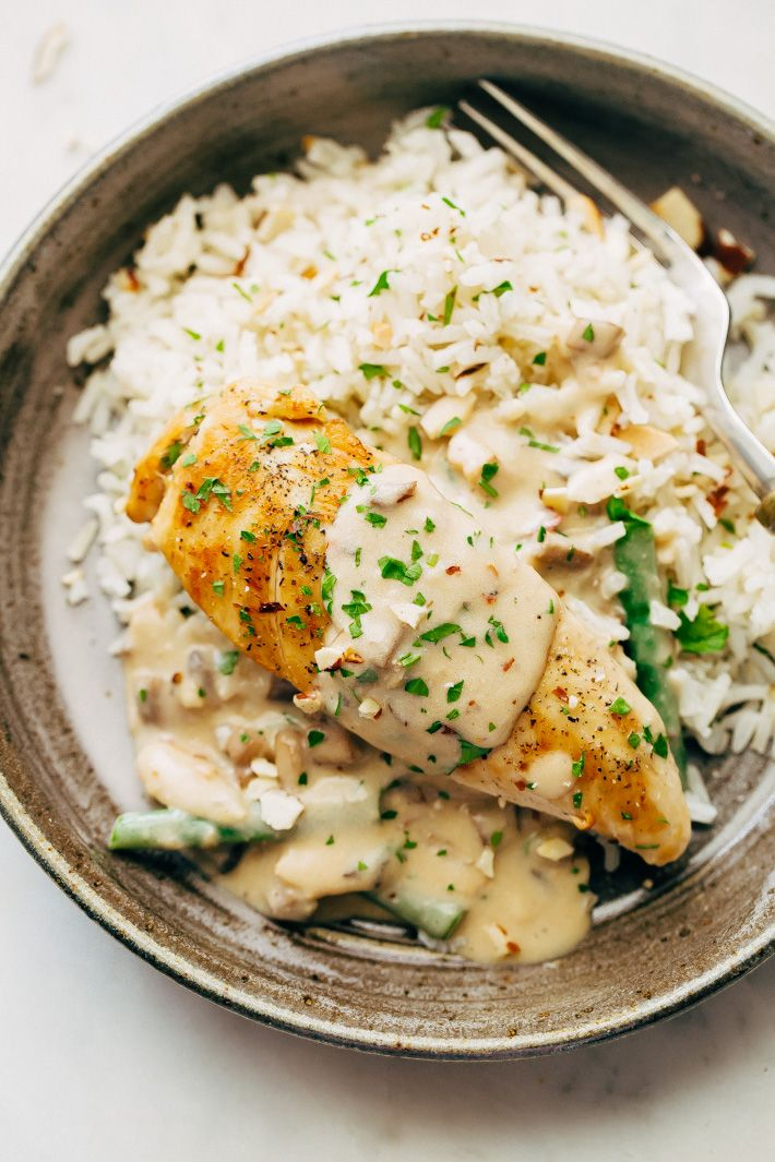 Creamy Almond Chicken With Rice Pilaf Recipe Little Spice Jar Recipe Chicken Salad Recipe With Almonds Chicken Salad Recipes Almond Chicken