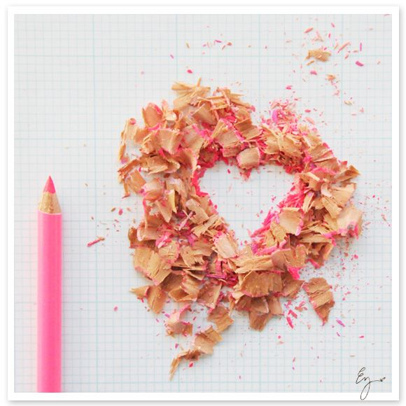 I love that pencil shavings can be art. Is there anything more charming and inspiring?
